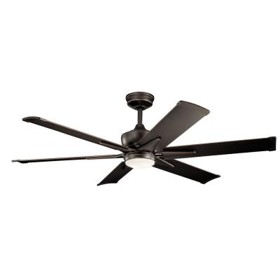 Szeplo II 60 in. Integrated LED Outdoor Olde Bronze Downrod Mount Ceiling Fan with Light