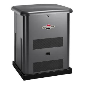 Click here to buy Briggs & Stratton 8,000-Watt Automatic Air Cooled Standby Generator with 50 Amp 10-Circuit Pre-Wired Transfer Switch by Briggs & Stratton.