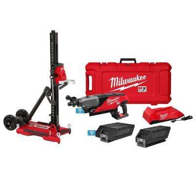 MX FUEL Lithium-Ion Cordless Handheld Core Drill Kit with Stand, 2 Batteries and Charger
