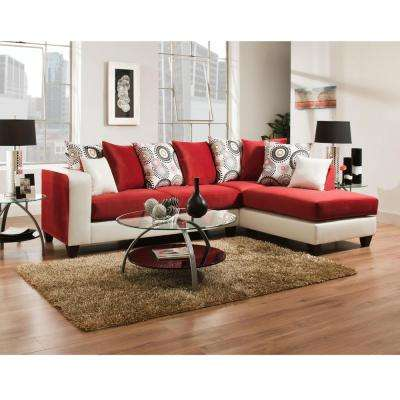 Red - Sectionals - Living Room Furniture - The Home Depot