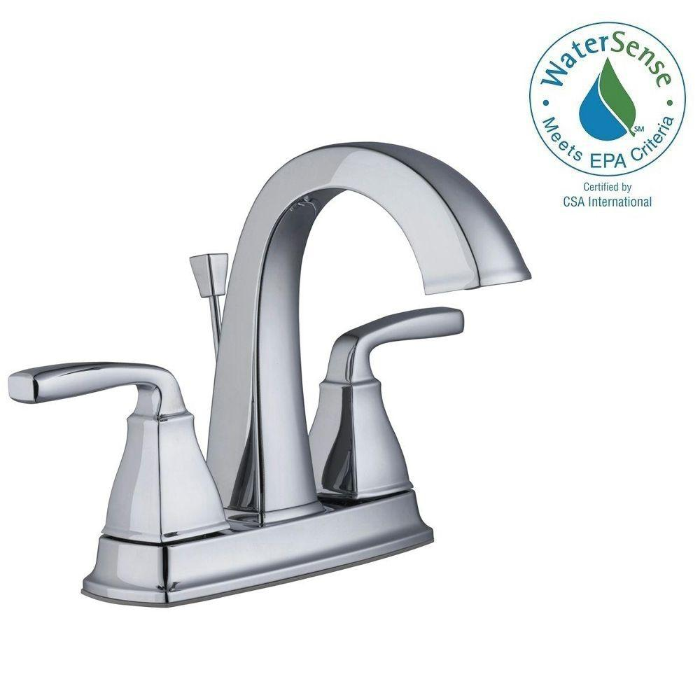 Pegasus Mason 4 in. Centerset 2-Handle High-Arc Bathroom Faucet in ...
