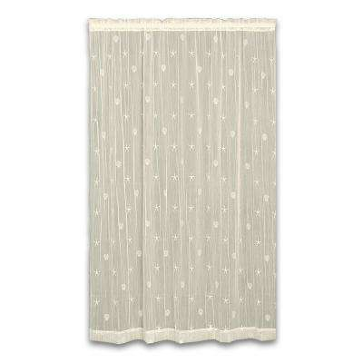 45 in. W x 63 in. L Sand Shell Polyester Ecru Lace Curtain