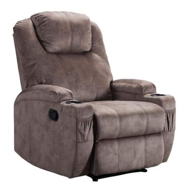 Manual Ergonomic Camel Recliner Chair with 2-Cup Holders