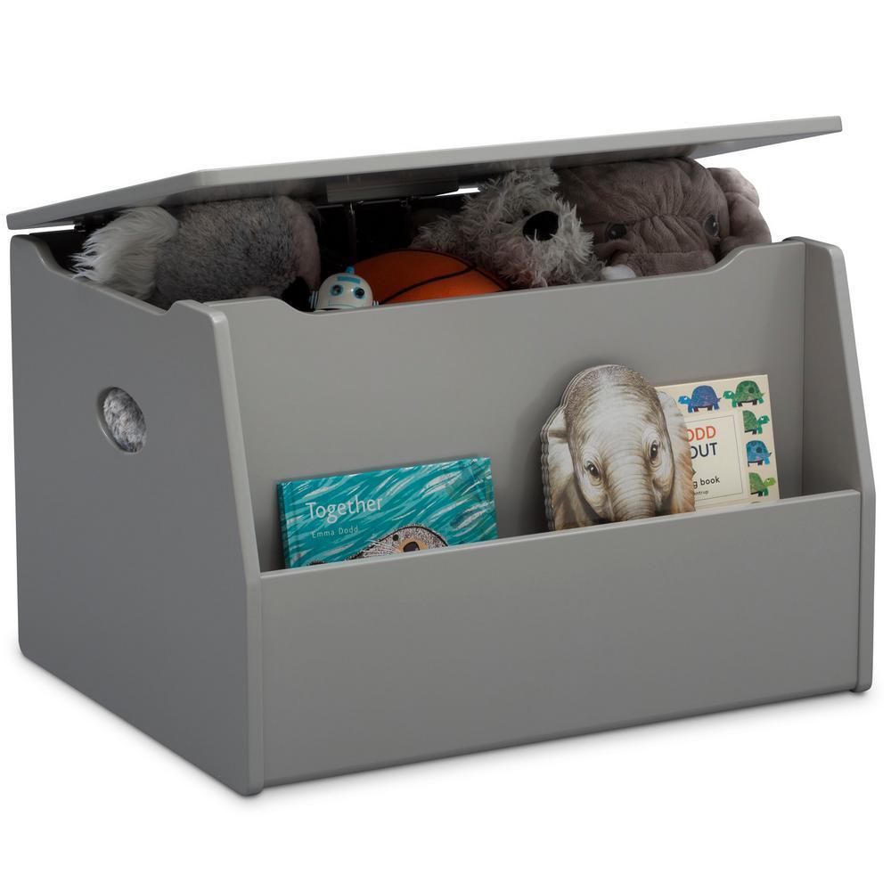 Cool Grey Delta Children Lidded Storage Bins
