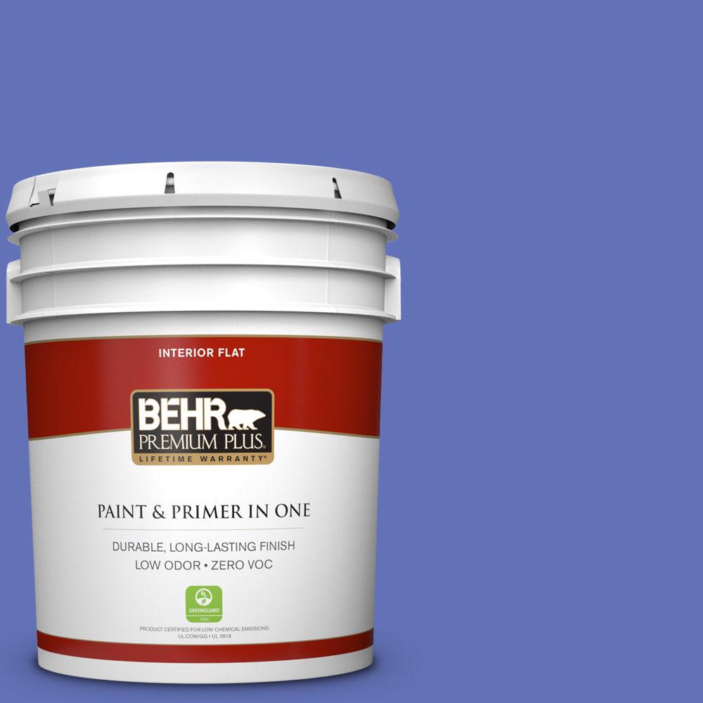 BEHR Premium Plus 5-gal. #P540-6 Wild Pansy Flat Interior Paint