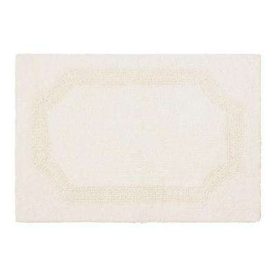Reversible Ivory 21 in. x 34 in. Cotton Bath Mat