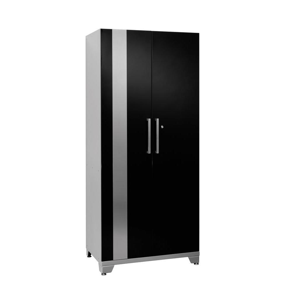 NewAge Products Performance 75 in. H x 30 in. W x 18 in. D 2-Door Steel Garage Cabinet in Black