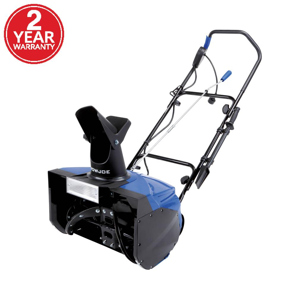 Snow Joe Ultra 18 In 15 Amp Electric Snow Blower With Light Sj623e The Home Depot