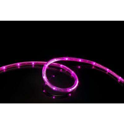 16 ft. Pink All Occasion Indoor Outdoor LED Rope Light 360° Directional Shine Decoration (2-Pack, 32 ft. Total)