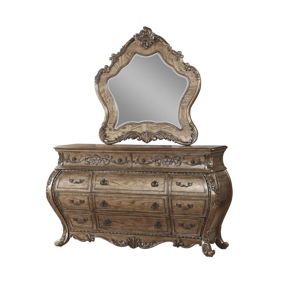 Amelia 48 In Vintage Oak Wood Mirror