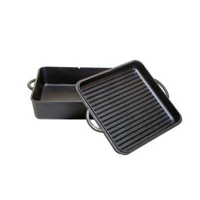 Square Preseasoned Cast Iron 13 in. Dutch Oven