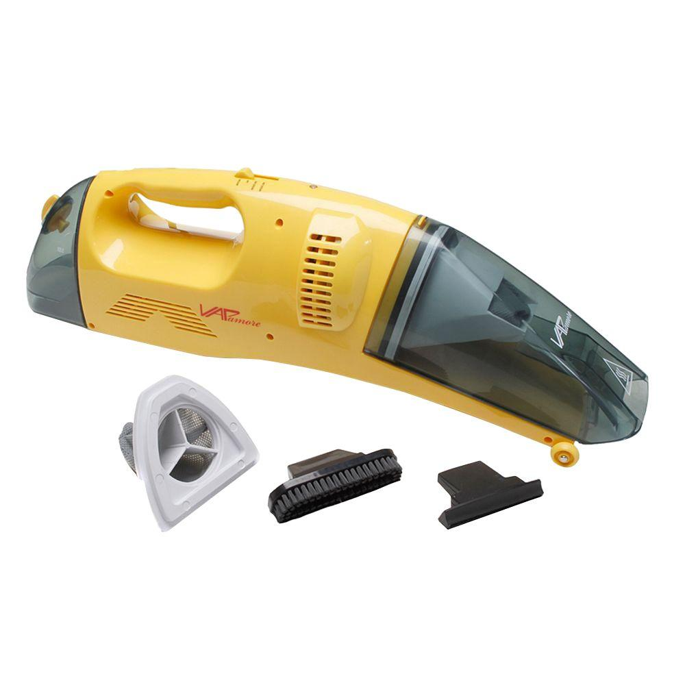 Vapamore Corded Handheld Wet/Dry Vac, Yellows/Golds