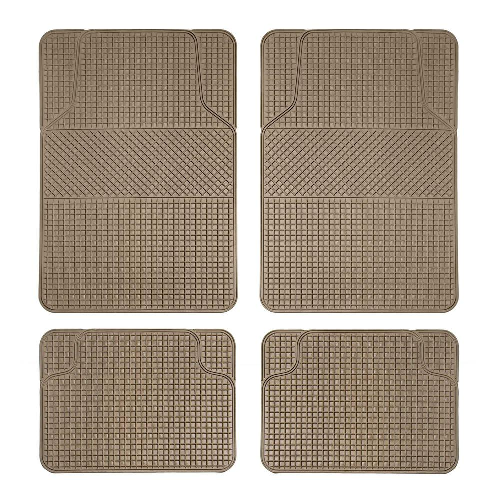 Anti Slip Floor Mats : Fh group tan durable pieces in anti slip