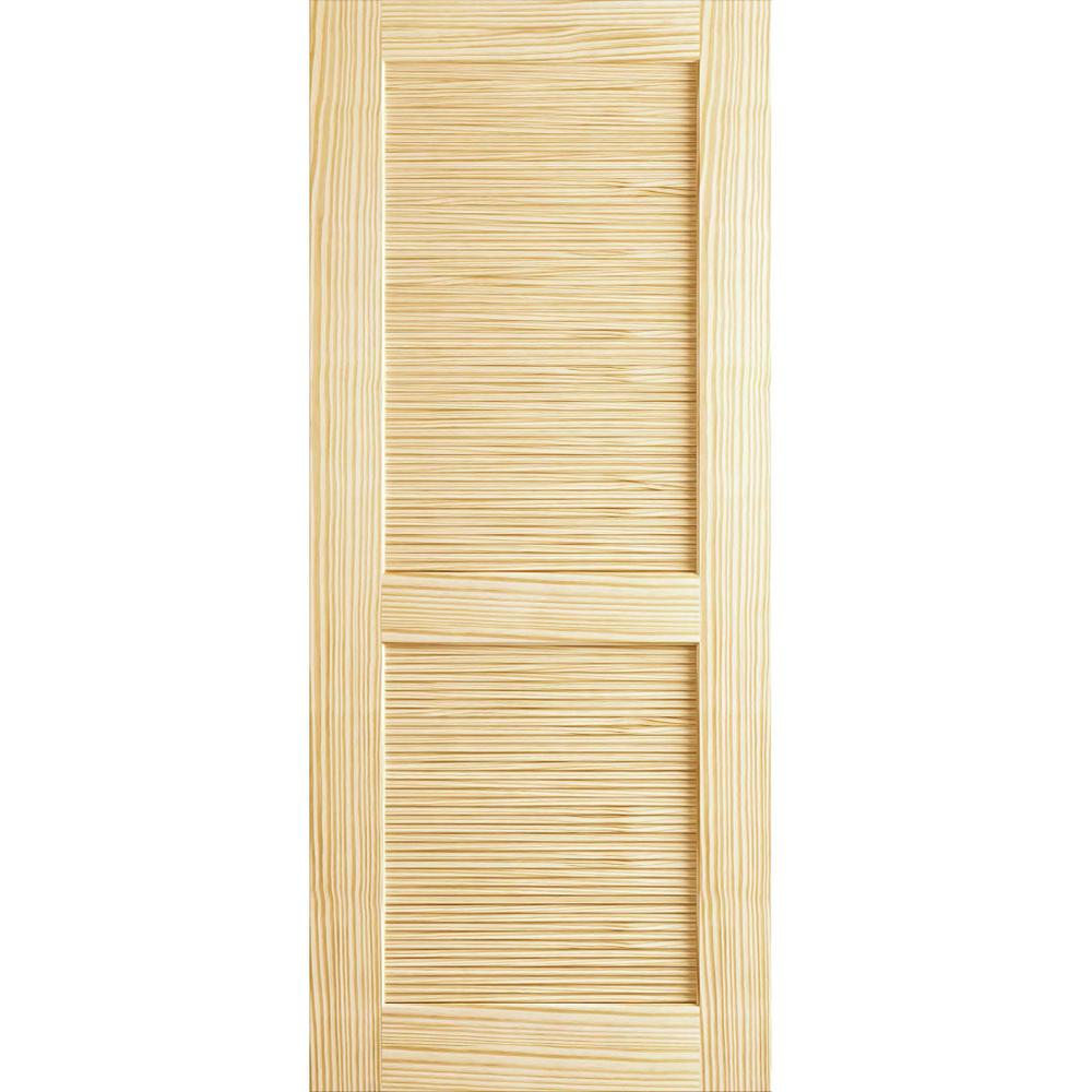 18 In X 80 Louvered Solid Core Unfinished Wood Interior Door Slab