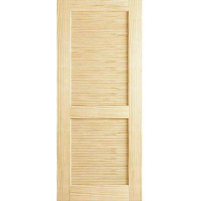 24 In. X 80 In. Louvered Solid Core Unfinished Wood Interior ...
