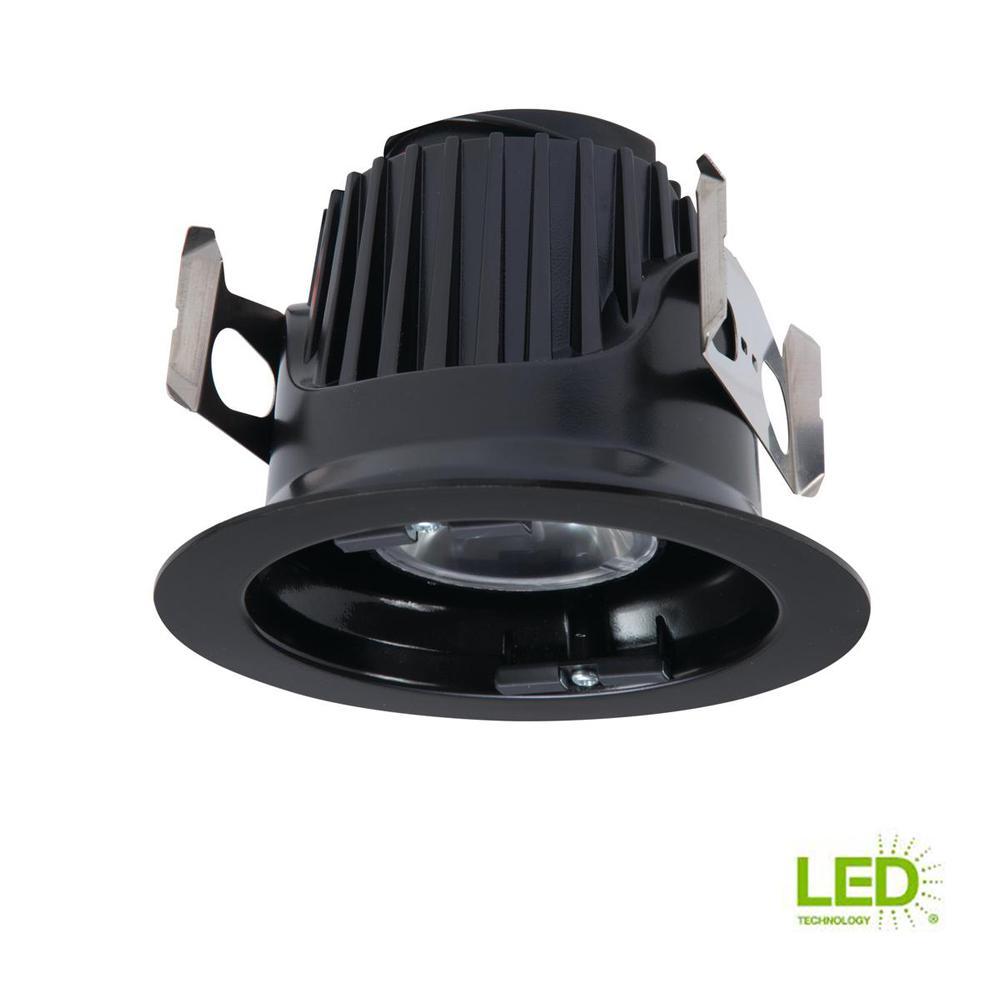 ML 4 in. Black Integrated LED Recessed Ceiling Light Fixture Retrofit