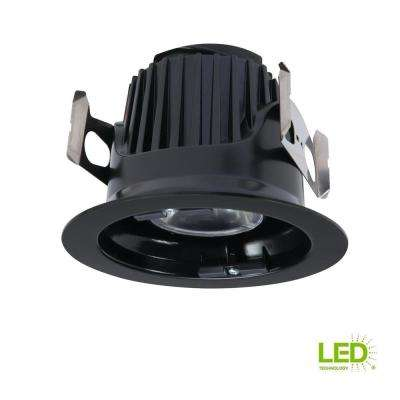 ML 4 in. Black Integrated LED Recessed Ceiling Light Fixture Retrofit Module at 90 CRI, 900 Lumens, 3000K Soft White