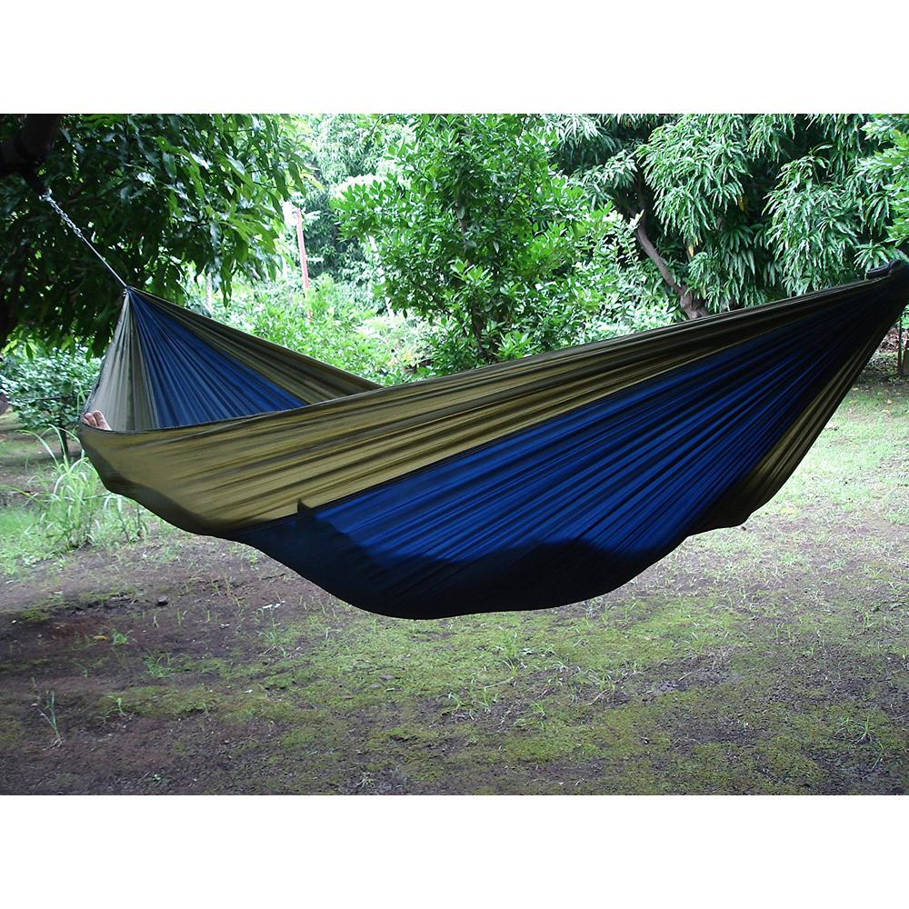 Vivere 10 Ft. Parachute Double Hammock In Navy/Olive