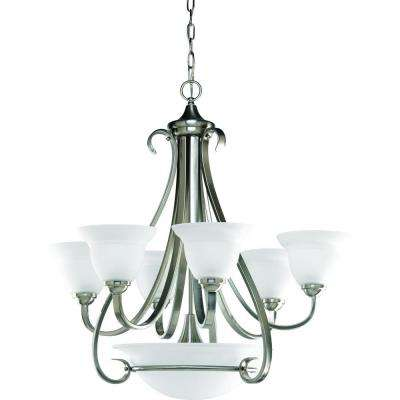 Torino Collection 6-Light Brushed Nickel Chandelier