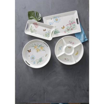 Butterfly Meadow Melamine Multi Color Large Round Tray