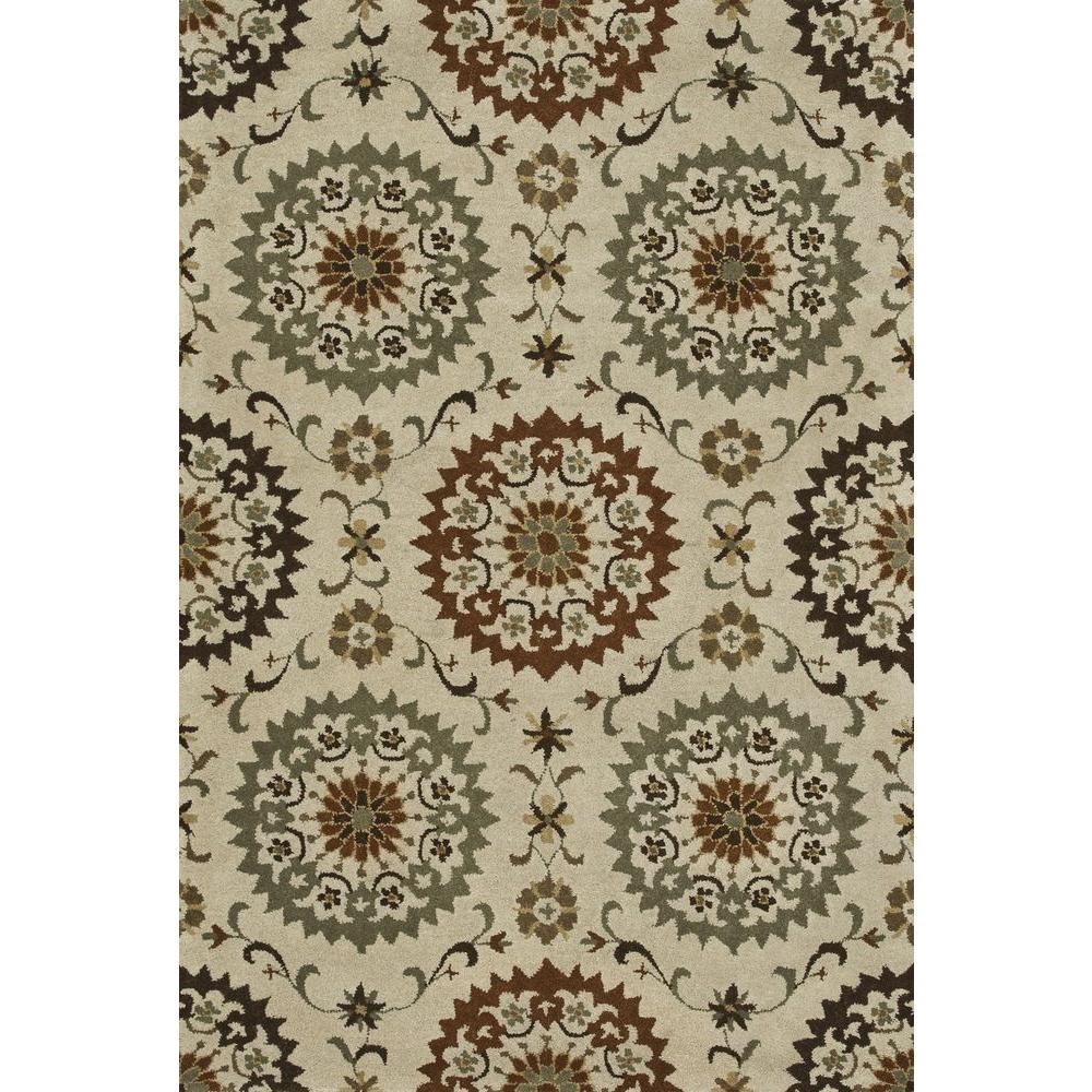 Loloi Rugs Fairfield Lifestyle Collection Ivory/Sage 7 ft. 6 in. x 9 ft. 6 in. Area Rug