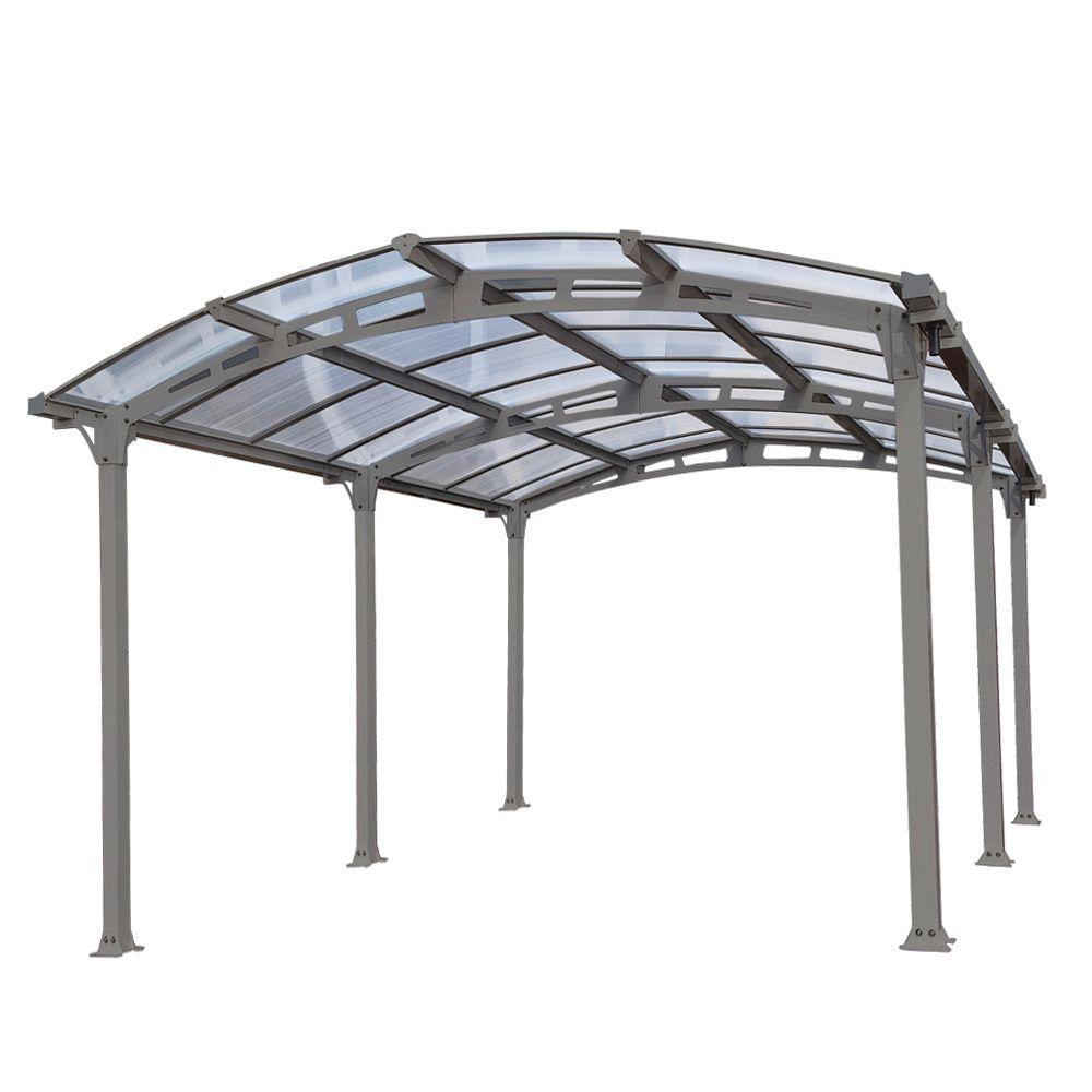 Superior Palram Arcadia 5,000 12 Ft. X 16 Ft. Carport With Polycarbonate Roof 701592    The Home Depot