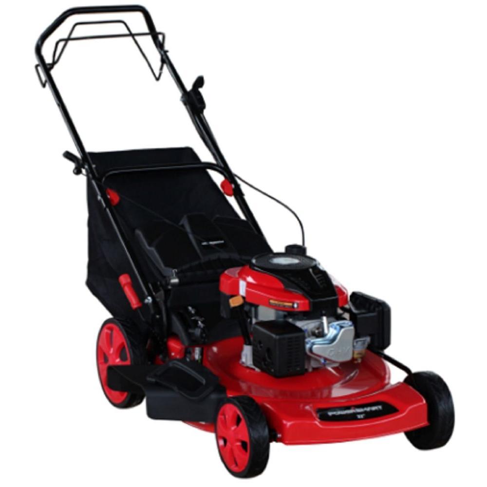 Powersmart PowerSmart 22 in. 196cc 3-in-1 Self-Propelled Gas Lawn Mower