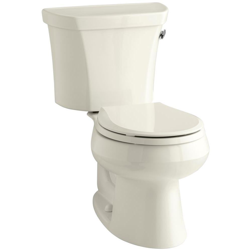 Wellworth 2-piece 1.6 GPF Single Flush Round Toilet in Biscuit