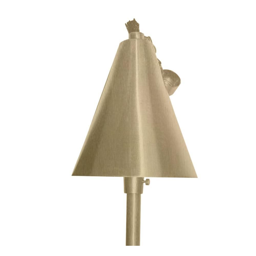 Centennial 1-Light Outdoor LED Acid Treated Brass Tiki Torch
