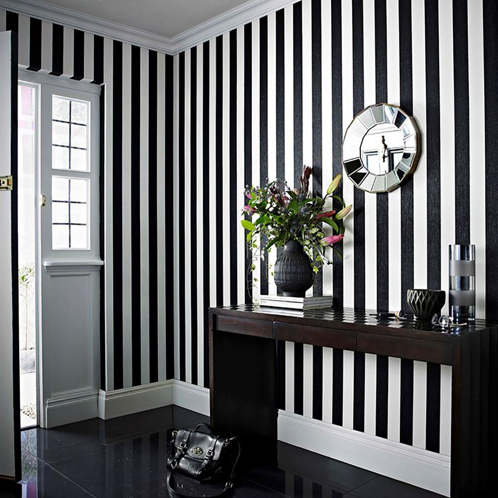 Black White Wallpaper Home Decor The Home Depot