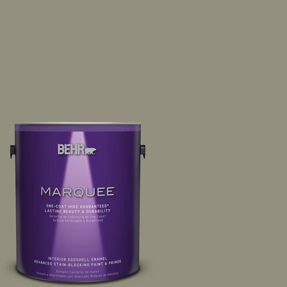 1 gal. #N350-5 Muted Sage One-Coat Hide Eggshell Enamel Interior Paint