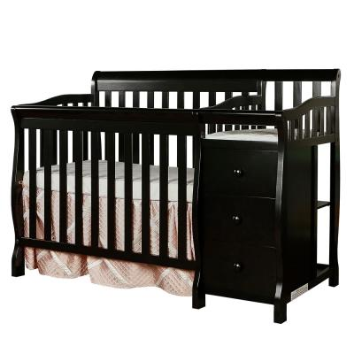 Jayden Black 4-in-1 Mini Convertible Crib and Changer
