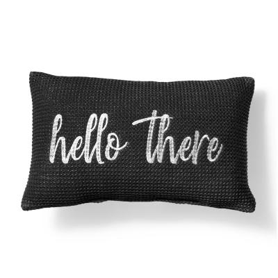Outdoor Lumbar Pillow- Hello There