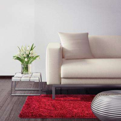 City Sheen Red 12 Ft X 14 Area Rug