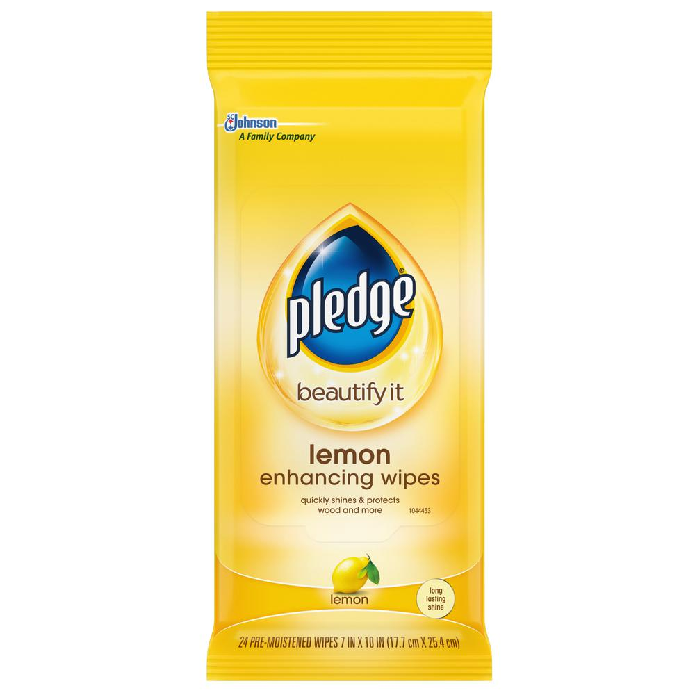 Pledge 24-Count Lemon Clean Pre-Moistened Wipes (12 per Case)