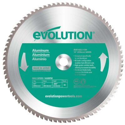 Evolution Power Tools 12 in. 80-Teeth Aluminum Cutting Saw Blade