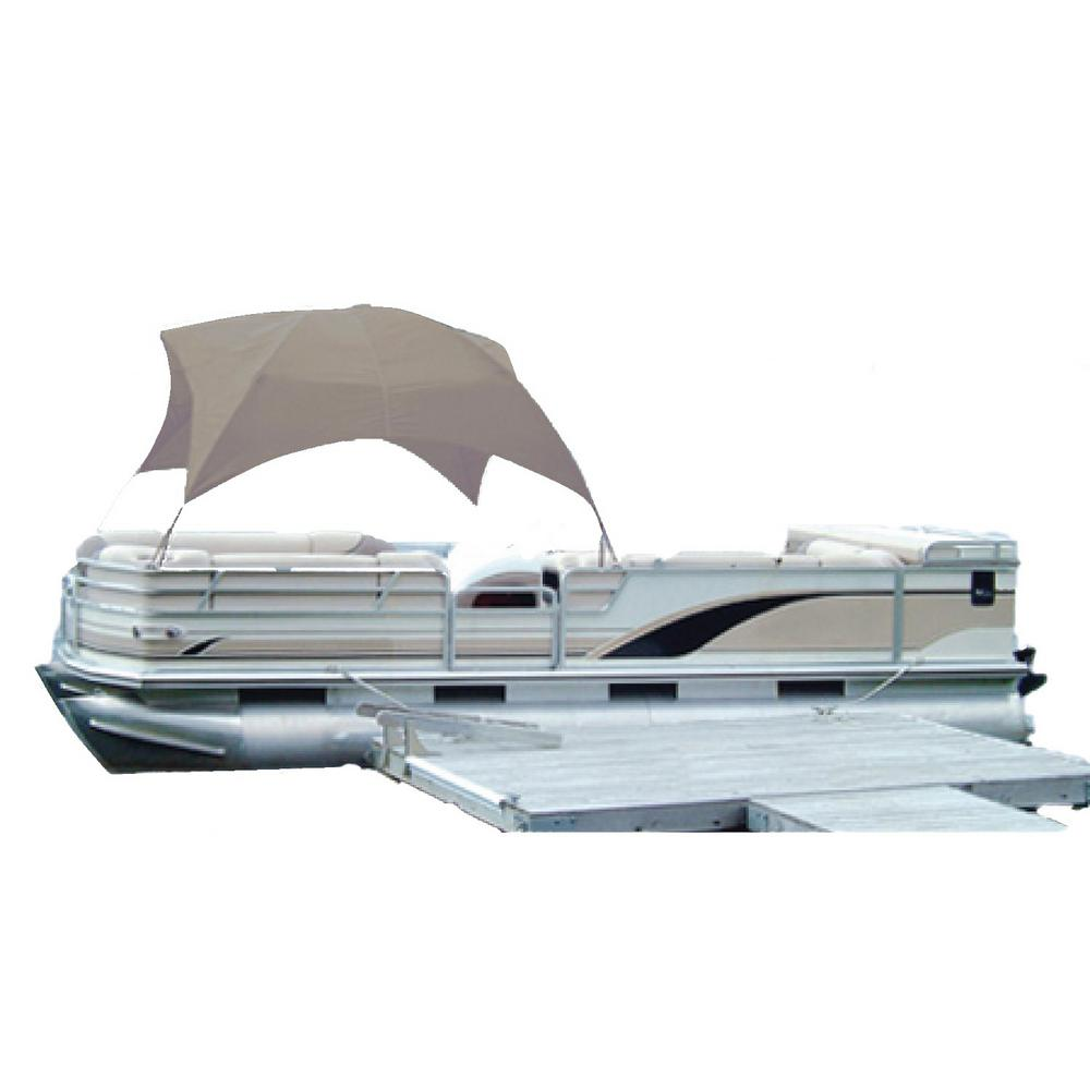 51e9dd6e6a8 Taylor Made. 96 in. and 102 in. Hot Shot Polyester Fabric Pontoon Gazebo  for Beams Sand