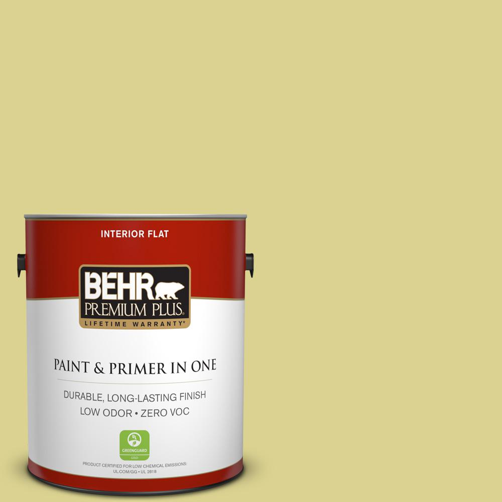 1 gal. #T17-16 That's My Lime Zero VOC Flat Interior Paint