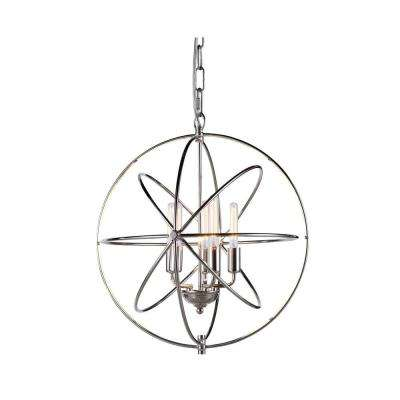 Vienna 5-Light Polished Nickel Pendant Lamp