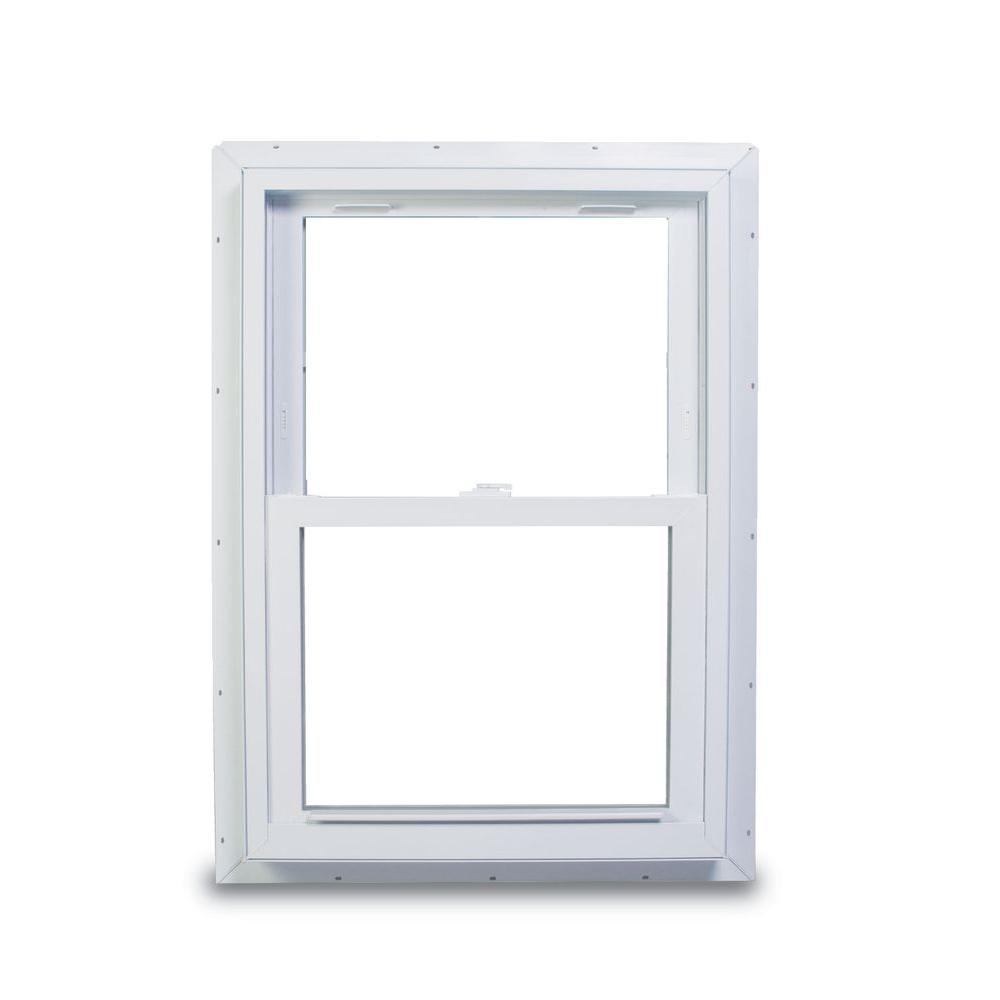 American Craftsman 37 75 In X 56 70 Series Double Hung White Vinyl Window