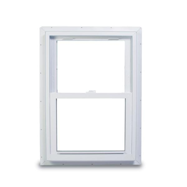 37.75 in. x 56.75 in. 70 Series Double Hung White Vinyl Window with Nailing Flange