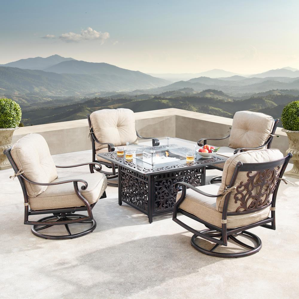 Oakland Living Canyon Luxurious Antique Copper 5-Piece ... on Oakland Living Patio Sets id=22360