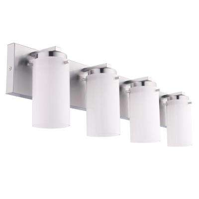 Olmia 4-Light Satin Nickel Bath Light