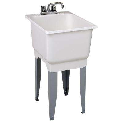 Utilatub Combo 18 in. x 23.5 in. x 33 in. Co-Polypure Floor Mount Laundry Tub