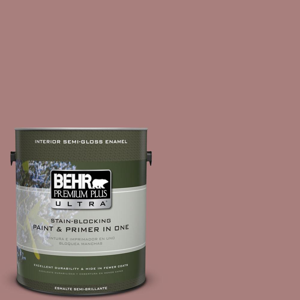 1-gal. #140F-4 Bedford Brown Semi-Gloss Enamel Interior Paint