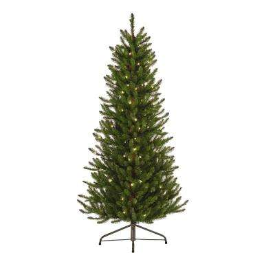 4.5 ft. Indoor Pre-Lit Kensington Tree with Clear Lights