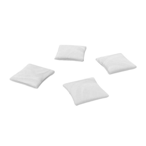 Official ACA Sized White Corn-filled Duck Cloth Cornhole Bags (4-Set)