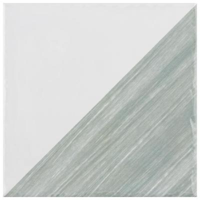 Triangle Rustique Glossy Sage 6 in. x 6 in. Ceramic Wall Tile (7.47 sq. ft./Case)