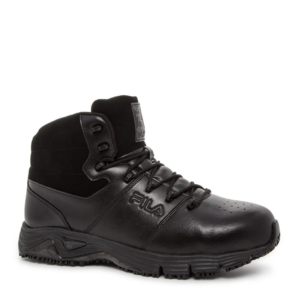 eb45ede30087 Memory Breach Men Size 11.5 Black Leather Synthetic Steel Toe Work Boot