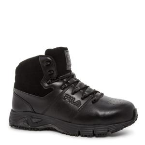 d630059b Fila Memory Breach Men Size 10.5 Black Leather/Synthetic Steel Toe Work  Boot-1SH40238 - The Home Depot